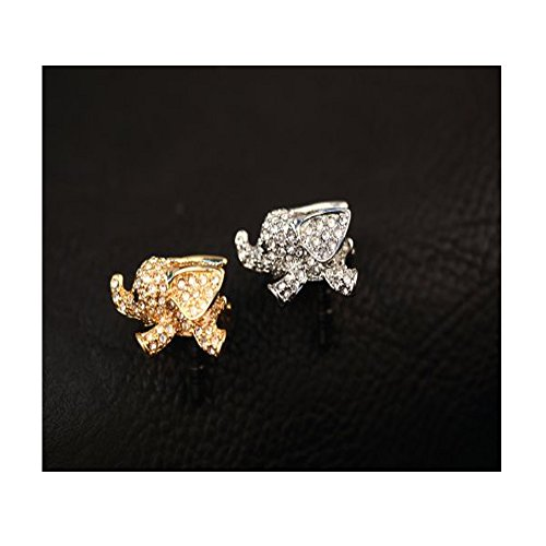 Vanki Crystal Elephant Anti Dust Plug Stopper / Ear Cap / Cell Phone Charms for Smartphone, iPad with 3.5mm Earphone Jack Phones - Silver by vanki (Image #1)
