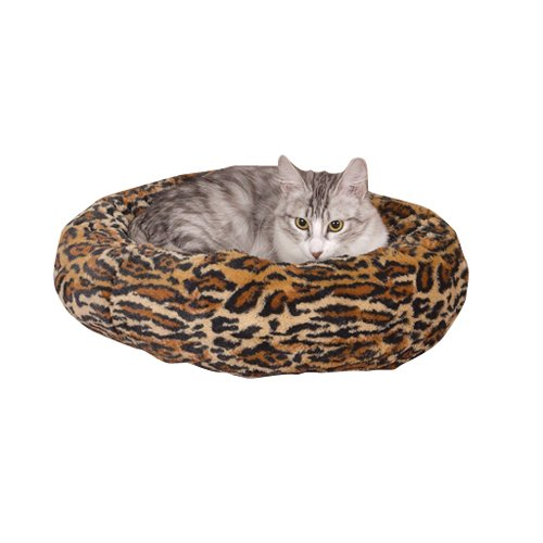 Slumber Pet 18-Inch Polyester Cozy Kitty Bed, Cheetah, My Pet Supplies