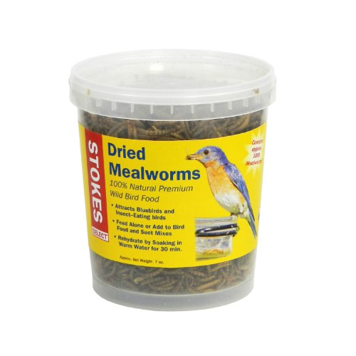 Stokes Select 100% Natural Premium Dried Mealworms, 7 oz. - Baffled Tee