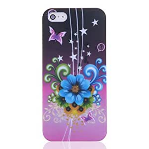 Cesta asunto patrón de flores noctilucentes de 5/5s iphone