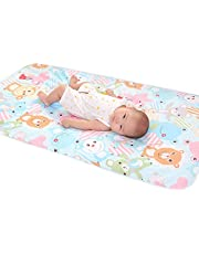 Baby Changing Nappies Pad 23.62 * 35.43in Waterproof Breathable Newborn Baby Mattress Urine Infant Diaper Pad(Bear)