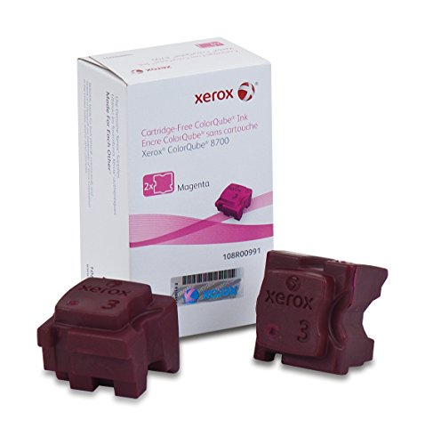 (Genuine Xerox Magenta Solid Ink Sticks for the Xerox ColorQube 8700 (2 pcs/Box),  108R00991)