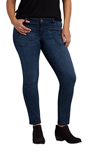 maurices Women's Denimflex TM Plus Size Skinny Jeans with Porkchop Pockets 26 Dark Sandblast -