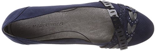 Ballet Women's Comb 890 22100 Navy Blue Tozzi Flats Taupe Marco 5tqTaw8n