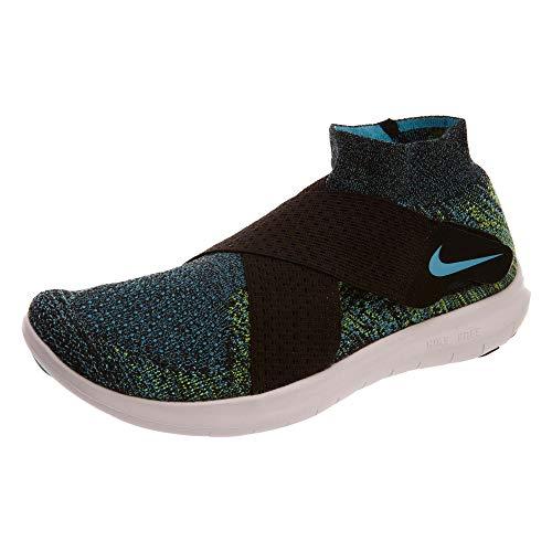 Chlorine Men's Blue volt Black white 2017 Running Nike Flyknit Shoe Free RN fT4x8q4H