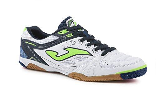 Joma Dribling 607coral-negro interior, zapatillas de fútbol sala para hombre, BLANCO-MARINO S602, 42