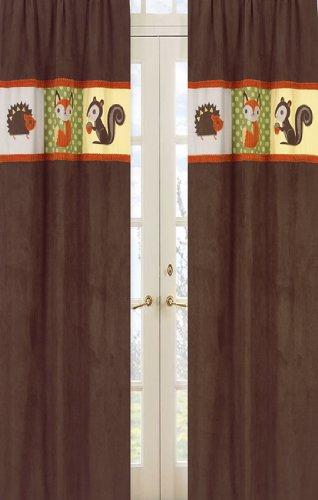 - Sweet Jojo Designs 2-Piece Forest Friends Window Treatment Panels