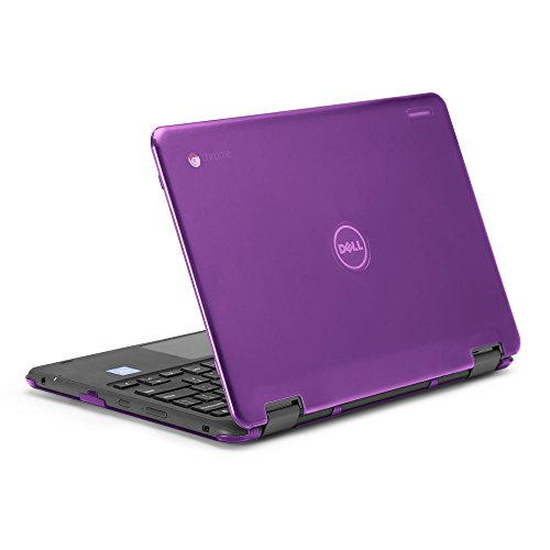 mCover iPearl Hard Shell Case for 2017 11.6 Dell Chromebook 11 3189 Series 2-in-1 Laptop (NOT Compatible with 210-ACDU / 3120/3180 Series) - 3189 Purple