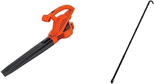 BLACK DECKER Electric Leaf Blower, 7-Amp with Quick Connect Gutter Cleaner Attachment LB700 BZOBL50