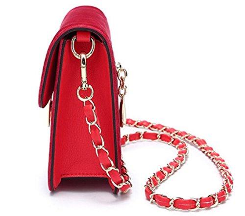 Diagonal Red Portable Spring Womens À Cross Carré Package Bandoulière Petit Sacs body Nouveau Sac 064xfqO