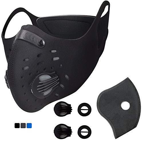 Activated Carbon Dustproof Mask - Dust Face Mask Gas Filter Mask, N95 Pollution Bicycle Woodworking Mask Replacement Filters Fire Paint Desert Exercise Other Sports Outdoor Protective