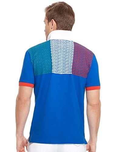 Hugo Boss Boss Green Herren Poloshirt, Royal Blue, Italienische Flagge Polo in 3XL