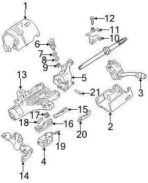 Genuine Ford 3C3Z-3530-CB Steering Column Shroud Assembly