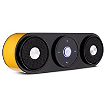 EchoAcc® Wireless Speaker 2 x 5W with Enhanced Bass Resonator Mini Portable Bluetooth Speaker Support TF Card, FM Radio, AUX-IN for Tablets and Smart Phones