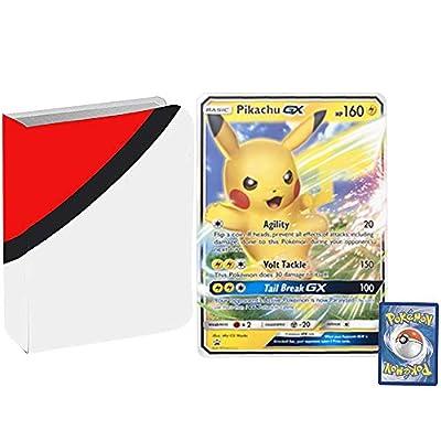 Totem World Bundle Jumbo Oversized Pikachu GX Promo Pokemon Card with a Totem Jumbo Binder Collectors Album: Toys & Games
