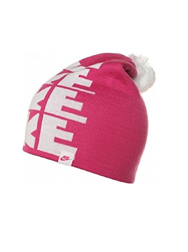 Galleon - NIKE Youth Futura Pom Knit Beanie Cap Hat (616 Vivid Pink) 673274fbc627