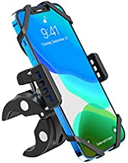 VersionTECH. Bike Phone Mount Scooter Motorcycle Cellphone Holder Compatible for harley davidson accessories Ram Mount Motorcycle Silicone Cradle Anti-shake 360° Universal Secure Grip Bicycle Smartphone Stand for Scooter de telephone pour Broad support cellulaire velo Compatible for IPhone 11 Pro/XR/XS/X/6/7/8 Plus ,Samsung Galaxy Note 10 Plus/S20/S20 Ultra/S10