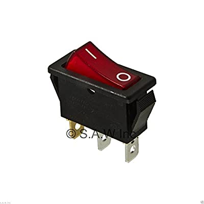 Rocker Switch Lighted On Off for Electric Fireplaces FMI Desa 120927-24 120 / 250 volt