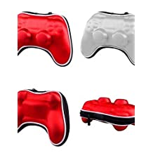 LEBULI Air foam Carry Pouch Case Bag for Sony PS4 Bluetooth Wireless Controller , red LIU8