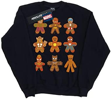 Marvel Herren Avengers Christmas Gingerbread Sweatshirt Navy Blau X-Large