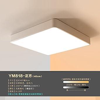 Lámpara de techo Led luces de dibujo Rectángulo dormitorio ...