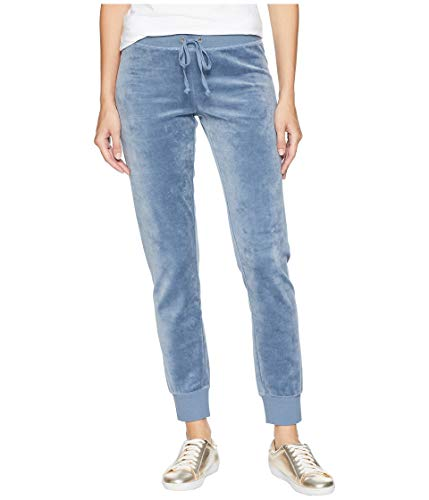 (Juicy Couture Women's Velour Zuma Pants with Pockets Dusty Navy Petite/X-Small 28)