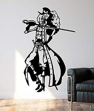 Tatuajes de pared de vinilo de One Piece Brook der Pirat ...