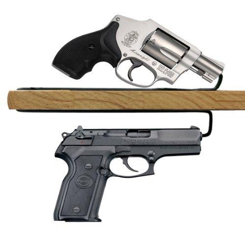 USA GunClub Easy Use Over Under Gun Handgun Hanger-2 Pack (Over Under)