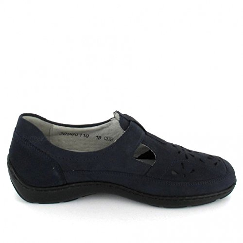 Slipper Blue Damen Flats Waldläufer Blue fO0xvw0q