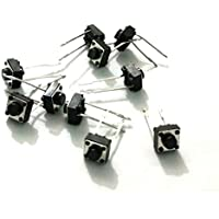 2 Pin Tactile Switch micro - Push to ON button (Pack of 10) by OL ELECTRONICS