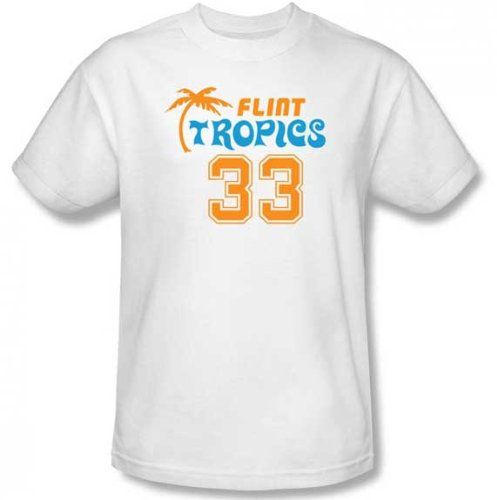Semi-Pro Flint Tropics 33 Jackie Moon White T-Shirt Tee (X-Large)