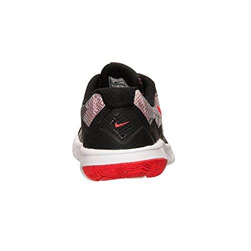 Nike - Nike Flex Experience 4 Print Gs Zapatos Deportivos Mujer Negro Cuero Tejido 749811 - Negro, 37,5
