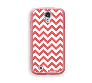 Shawnex Coral Chevron ThinShell Protective Pink Plastic Samsung Galaxy S4 Case - Galaxy i9500 Case Snap On Case
