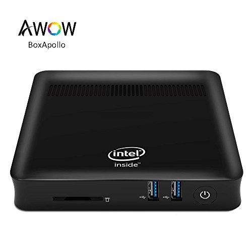 AWOW Windows 10 Mini PC – (Intel Celeron Apollo Lake N3450 2.2 Ghz/4GB DDR3L/64GB eMMC/Gigabit Ethernet/2.4G+5G Dual Wi-Fi/VGA/HDMI/USB 3.0/4K