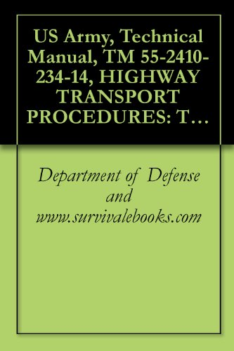 US Army, Technical Manual, TM 55-2410-234-14, HIGHWAY TRANSPORT PROCEDURES: TRANSPORT OF CATERPILLAR MODEL D8 TRACTOR W/RIPPER OR WINCH ON M870, 40-TON LOWBED TRAILER USING M290 (Model 40 Tractor)