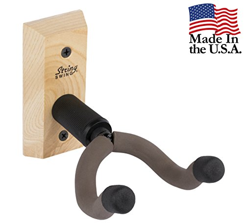 Ash Stud - String Swing CC01K-A Hardwood Home & Studio Wall Mount Guitar Keeper - Ash