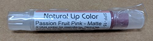 Bella Mari Natural Lip Color, Passion Fruit Pink Matte; 0.1floz