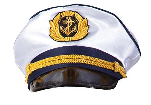 Boland 44353 - Kapitänsmütze für Erwachsene, Einheitsgröߟe, weiߟ