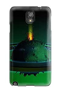 New Snap-on Jeffrey Goodale Skin Case Cover Compatible With Galaxy Note 3- Beyond Reality Cgi Sci Fi Abstract Cgi
