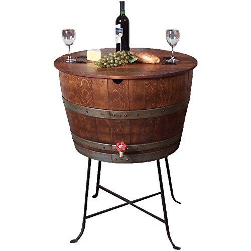 Bistro Barrel Cooler - Made from Wine Barrels (Ocean Finish) ()