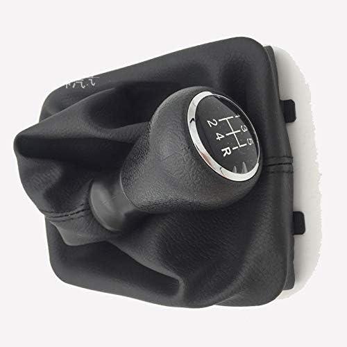 D28JD Cubierta de la Palanca de Cambios con Cuero Marco de pl/ástico Negro para P-eugeot 206 406
