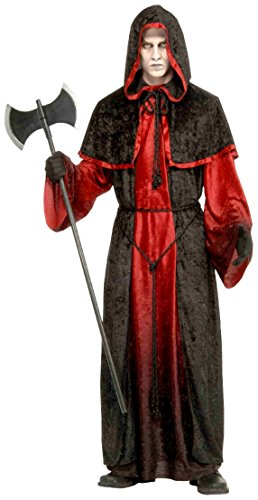 Forum Novelties Men's Demon Robe Costume, Black/Red, Standard