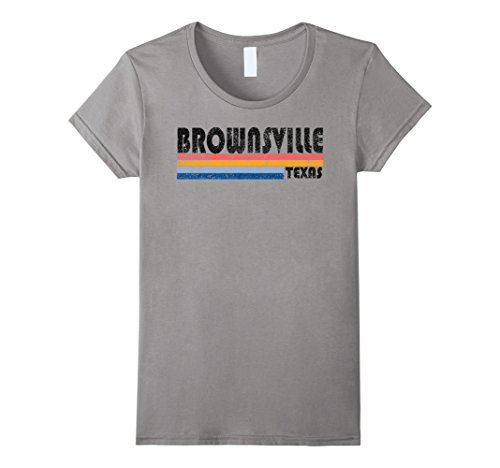 Womens Vintage 1980s Style Brownsville Texas T Shirt Large - Brownsville Women Tx