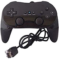 Wired Game Controller Remote Black Color Classic With Grip For Nintendo Wii
