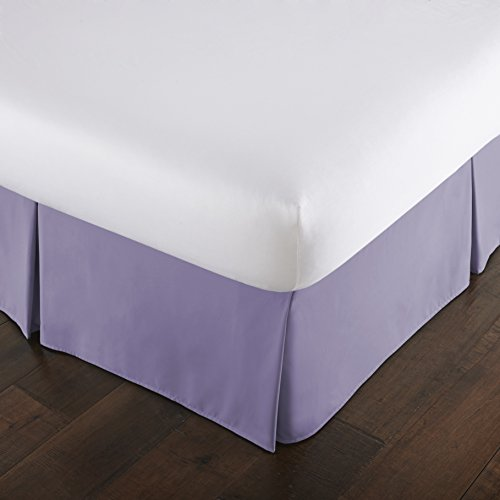 Southshore Fine Linens - VILANO Springs - 15 inch Drop Pleated Bed Skirt, Lavender, King