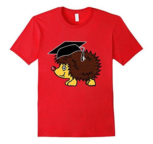 Men's Graduation hedgehog T-Shirt 2017 Graduate Graduation T-shirt Medium Red (Adult Hedgehog)