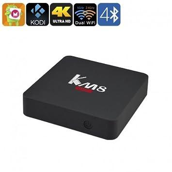 4K Android 6.0 caja TV - Octa-Core CPU, doble banda Wi-Fi, Google juego, Kodi TV 17.0, Bluetooth 4.0, memoria interna de 16GB: Amazon.es: Electrónica