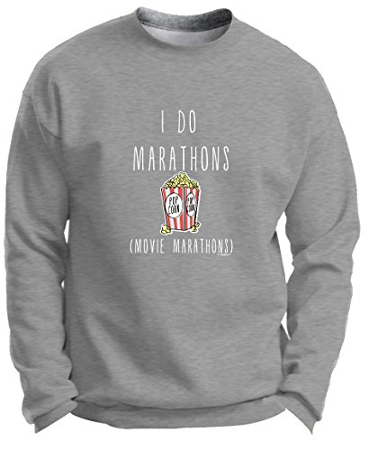Back to School Gifts Back to School Clothes I Do Marathons Movie Marathons Funny Binge Watching Premium Crewneck Sweatshirt Large LtStl