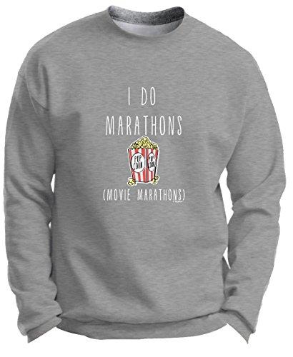 Back to School Gifts Back to School Clothes I Do Marathons Movie Marathons Funny Binge Watching Premium Crewneck Sweatshirt Large LtStl