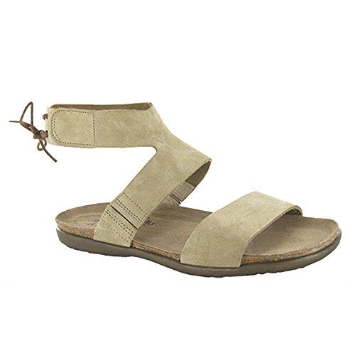 NAOT Women's Larissa Sandal, Sand Suede, 39
